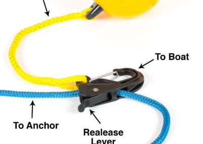 Black universal hook with labels