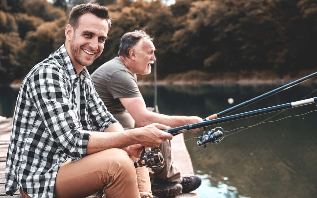 father and dad fishing
