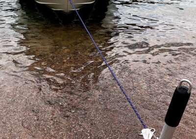 hook shore spike mooring boat